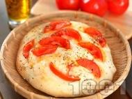Фокача с домати и риган